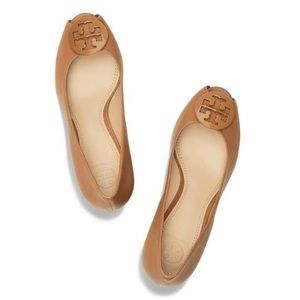 Tory Burch Melanie Peep Toe Tan
